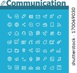 vector communication icon set | Shutterstock .eps vector #170069030
