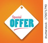 special offer   vector paper... | Shutterstock .eps vector #170071790