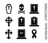 death cross grave and skull and ... | Shutterstock .eps vector #1700719000