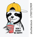 cute vector sloth illustration. ... | Shutterstock .eps vector #1700722909