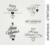 vector  happy valentines day... | Shutterstock .eps vector #170072660