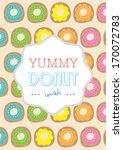 donut poster template vector... | Shutterstock .eps vector #170072783