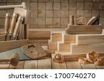 Carpentry Tools On Wooden...