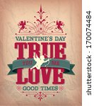 valentine's day type text... | Shutterstock .eps vector #170074484