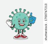 an illustration of blue virus... | Shutterstock .eps vector #1700767213