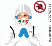 covid 19 or coronavirus concept.... | Shutterstock .eps vector #1700767393