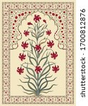abstract indian floral rug... | Shutterstock .eps vector #1700812876