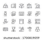 set of education related vector ... | Shutterstock .eps vector #1700819059