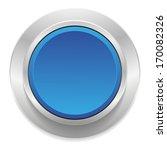 blue round button with metallic ... | Shutterstock .eps vector #170082326
