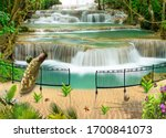 3d Wallpaper  Waterfall With...