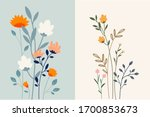Set Of Floral Background....