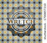 Wretch Arabic Emblem Background....