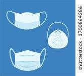 medical masks smog dust... | Shutterstock .eps vector #1700864386