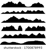 silhouettes of the mountains ... | Shutterstock .eps vector #1700878993