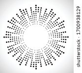 halftone dots in circle form.... | Shutterstock .eps vector #1700938129