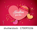 vector of valentine background... | Shutterstock .eps vector #170095106
