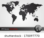 black world map illustration | Shutterstock .eps vector #170097770