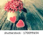 valentines day background with... | Shutterstock . vector #170099654