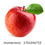 Red Apple Isolated On White...