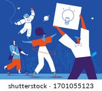 a group of young creative... | Shutterstock .eps vector #1701055123