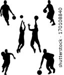 basketball players collection 2 ... | Shutterstock .eps vector #170108840