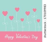 vector love card. heart flowers.... | Shutterstock .eps vector #170109983