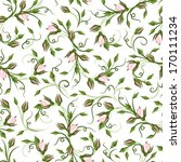 seamless pattern with rose buds.... | Shutterstock .eps vector #170111234