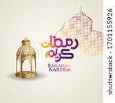 luxurious design ramadan kareem ...   Shutterstock .eps vector #1701155926
