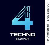 number four technology vector... | Shutterstock .eps vector #1701180700