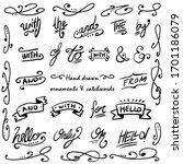 vintage lettering ampersand and ...   Shutterstock .eps vector #1701186079