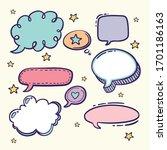 collection of hand drawn speech ... | Shutterstock .eps vector #1701186163