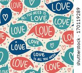 seamless pattern of valentines...   Shutterstock .eps vector #170119289