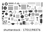 black geometric shapes set.... | Shutterstock .eps vector #1701198376