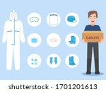 people donate ppe personal... | Shutterstock .eps vector #1701201613
