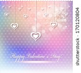 happy valentine s day card or... | Shutterstock .eps vector #170120804