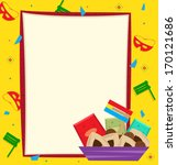 purim note   purim banner with... | Shutterstock .eps vector #170121686