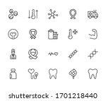 Health Line Icons Set. Stroke...
