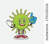 an illustration of green virus... | Shutterstock .eps vector #1701220126