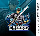cyborg esport mascot logo design   Shutterstock .eps vector #1701223156