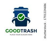 good trash vector logo template.... | Shutterstock .eps vector #1701224686