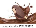 chocolate liquid splashing with ...   Shutterstock .eps vector #1701225790