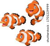 Cute Cartoon Clownfish Diferent ...