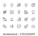 set of idea related vector line ... | Shutterstock .eps vector #1701233059