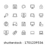simple set of cyber icons in... | Shutterstock .eps vector #1701239536