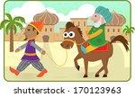 purim story   mordechai rides a ... | Shutterstock .eps vector #170123963