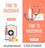vaccination concept banner with ... | Shutterstock .eps vector #1701251839