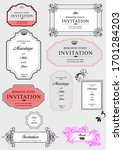 set of ornate vector frames and ... | Shutterstock .eps vector #1701284203