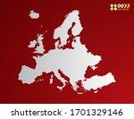 vector gray gradient of europe...