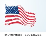 usa american flag in grunge | Shutterstock .eps vector #170136218