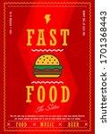 fast food menu design.... | Shutterstock .eps vector #1701368443